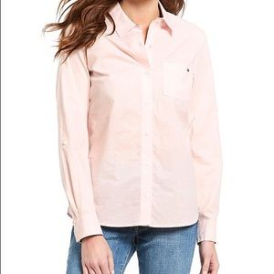 Tommy Hilfiger women's pink button down shirt